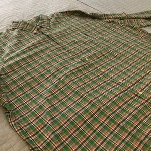 RALPH LAUREN GREEN STRIPPED BUTTON DOWN